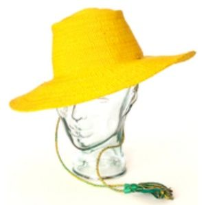 Ghanian Yellow Straw Hat